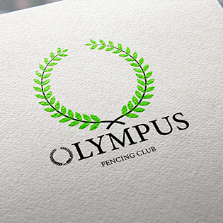 Olympus Fencing Club logo on the top of an invoice, you can only see the corner