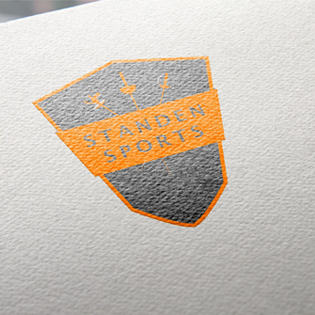 Standen Sports Ltd logo mocked up on the top right hand corner of an invoice