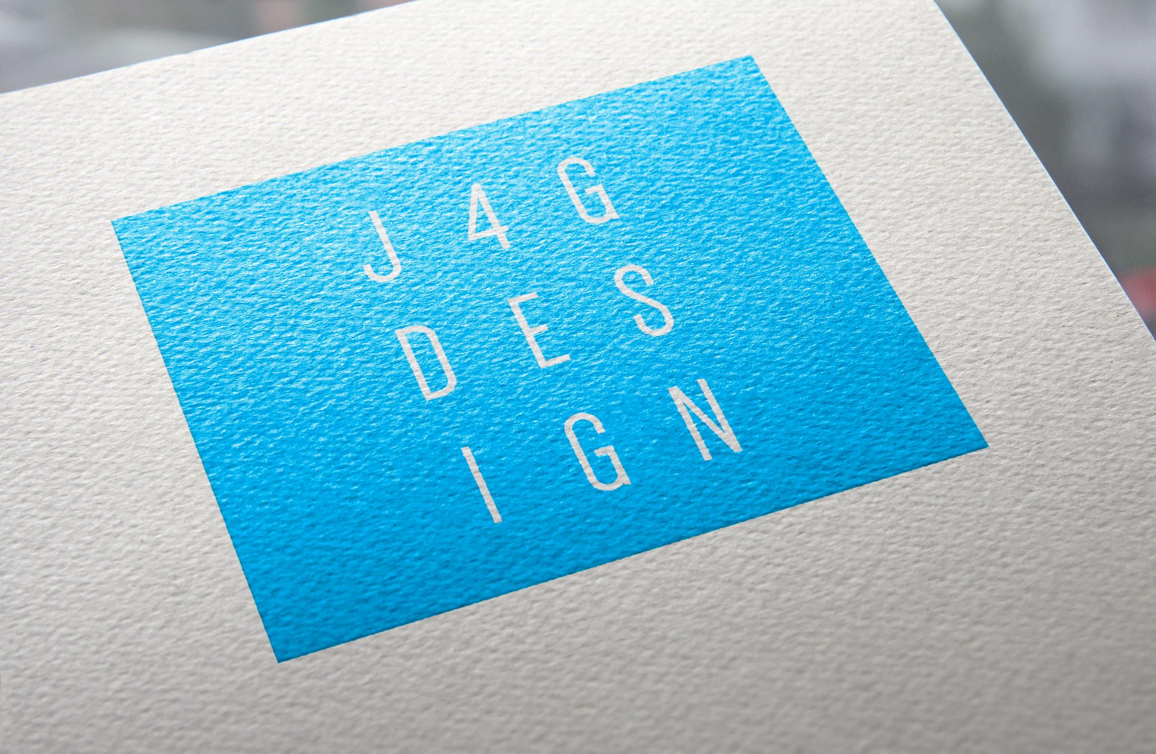 J4G Design logo on the top of an invoice, you can only see the corner